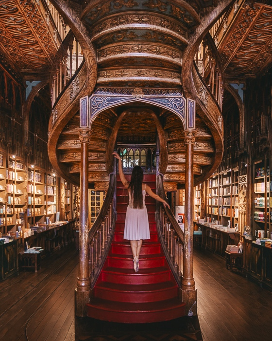 Livraria Lello staircases by Dancing the Earth