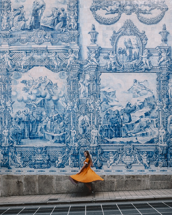 Porto weekend itinerary Capela das Almas wall by Dancing the Earth