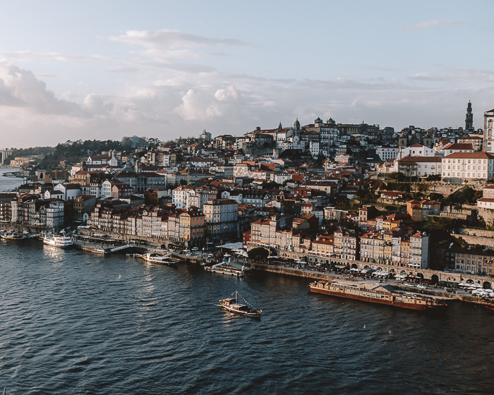Golden hour over Porto from Teleferico de Gaia by Dancing the Earth