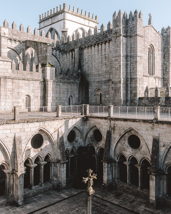 Porto weekend itinerary View of the cloister from the fortress by Dancing the Earth