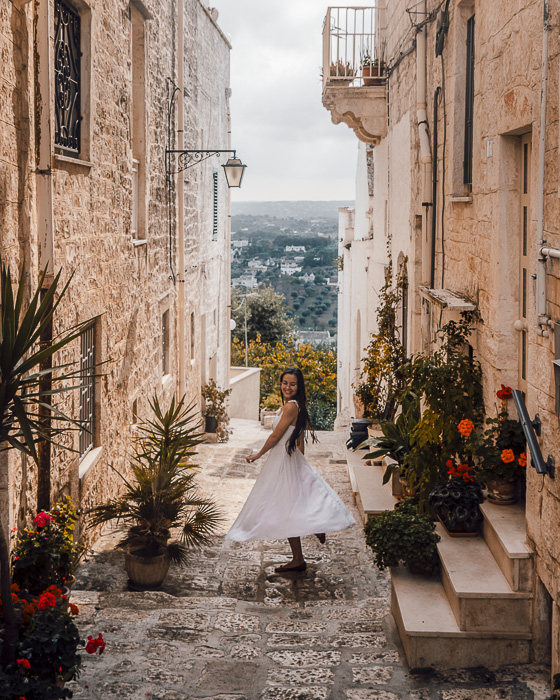 View over Valle d'Itria from Cisternino, Puglia travel guide by Dancing the Earth