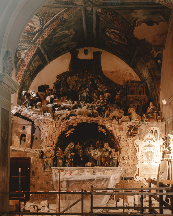 Nativity scene in the cathedral of Matera