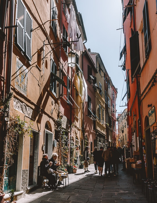 Street of Porto Venere, Liguria and Cinque Terre travel guide by Dancing the Earth