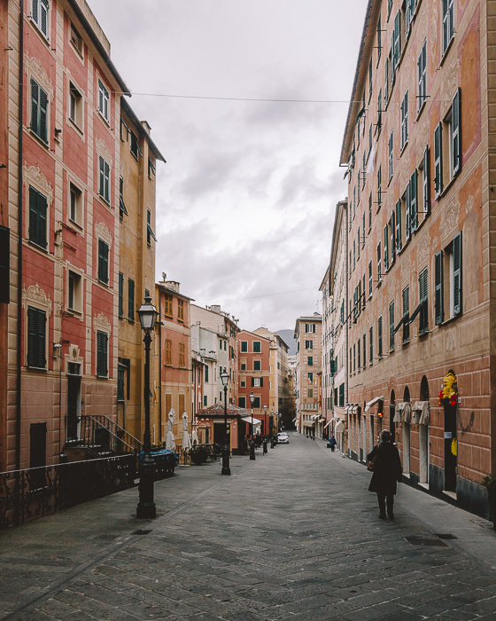 Street of Camogli, Liguria and Cinque Terre travel guide by Dancing the Earth