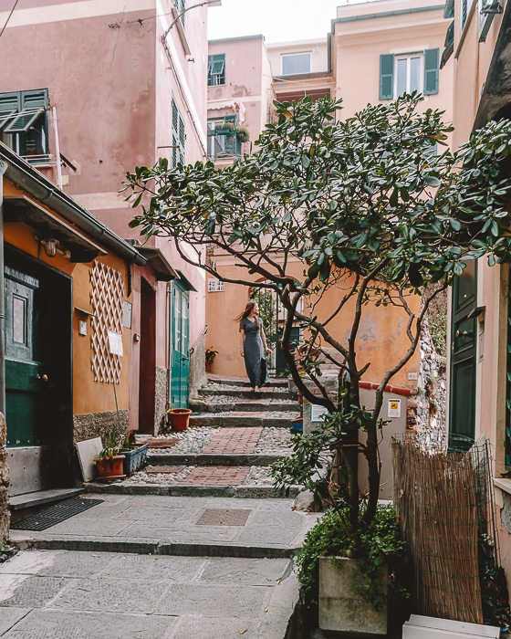 street of Boccadasse, Genoa, Liguria and Cinque Terre travel guide by Dancing the Earth