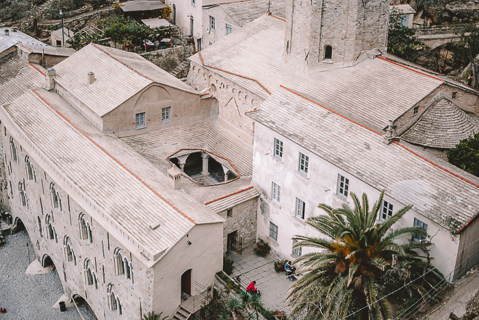 Cloister of the abbey in San Fruttuoso