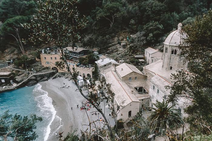 San Fruttuoso from the hiking trail, Liguria and Cinque Terre travel guide by Dancing the Earth