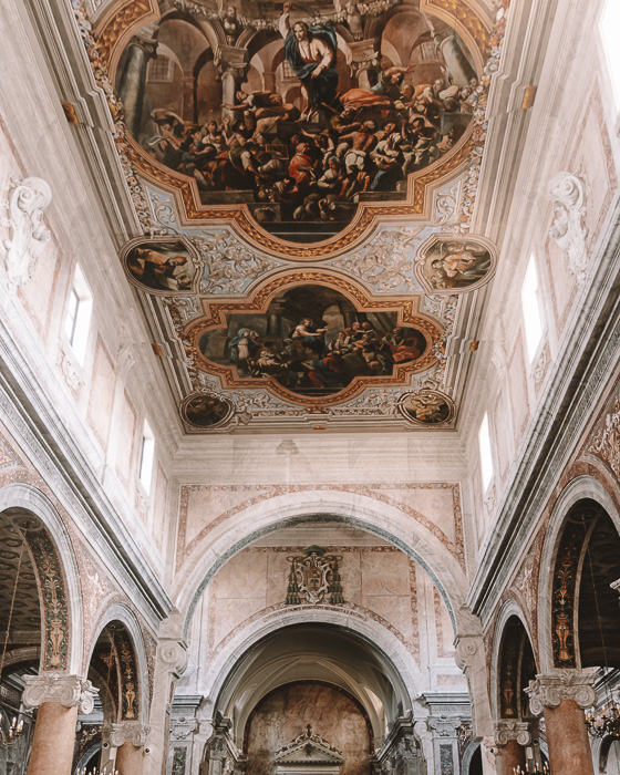 Inside the cathedral of Ostuni, Puglia travel guide by Dancing the Earth