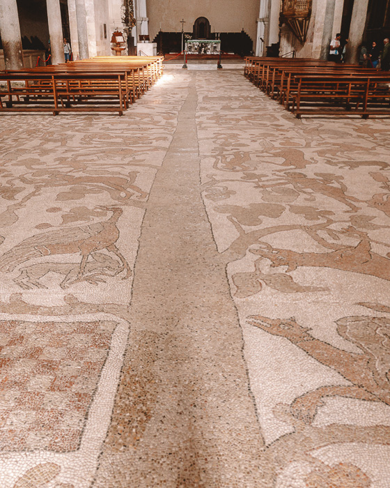 Mosaic floor in the cathedral of Otranto, Puglia travel guide by Dancing the Earth