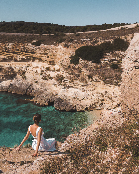 Porto Miggiano bay from the top, Puglia travel guide by Dancing the Earth