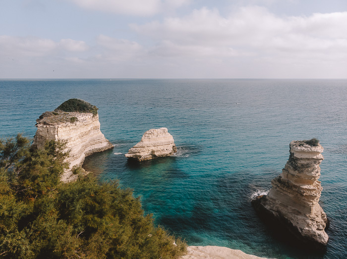 Torre Sant'Andrea, drone view, Puglia travel guide by Dancing the Earth