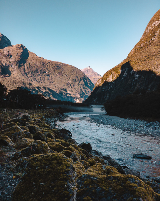 Milford Sound river, Dancing the Earth