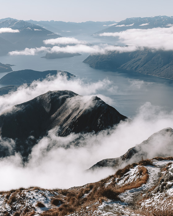 View on lake Wanaka from Roys Peak summit, Dancing the Earth