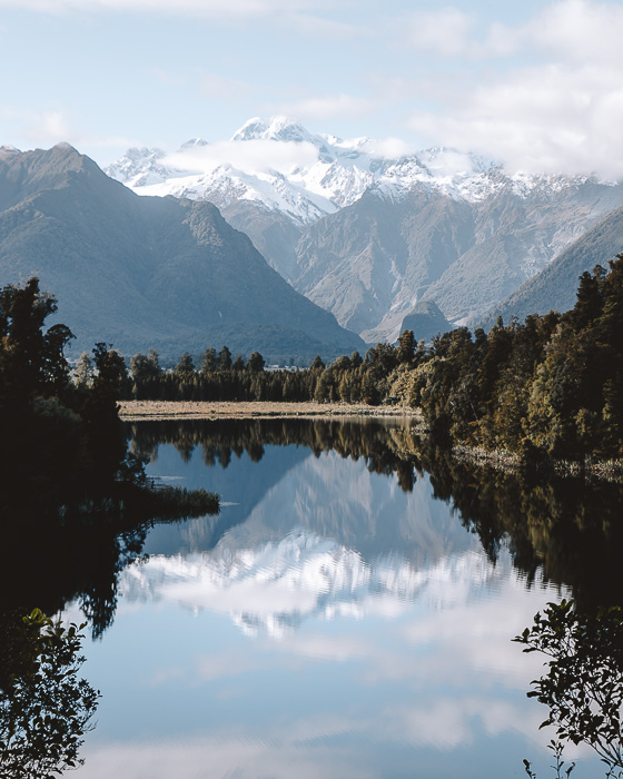 Lake Matheson and Mt Cook, Dancing the Earth