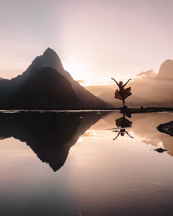 Milford Sound and Mitre Peak, South Island, Dancing the Earth