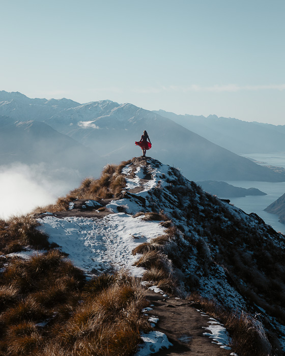 Closer look at the viewpoint in Roys Peak, Dancing the Earth