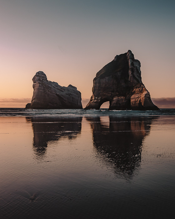 Sunset over Archway Islands, Dancing the Earth