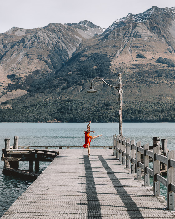 Dancing on Glenorchy wharf, Dancing the Earth