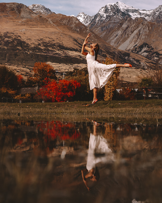 Puddle game in Glenorchy, Dancing the Earth