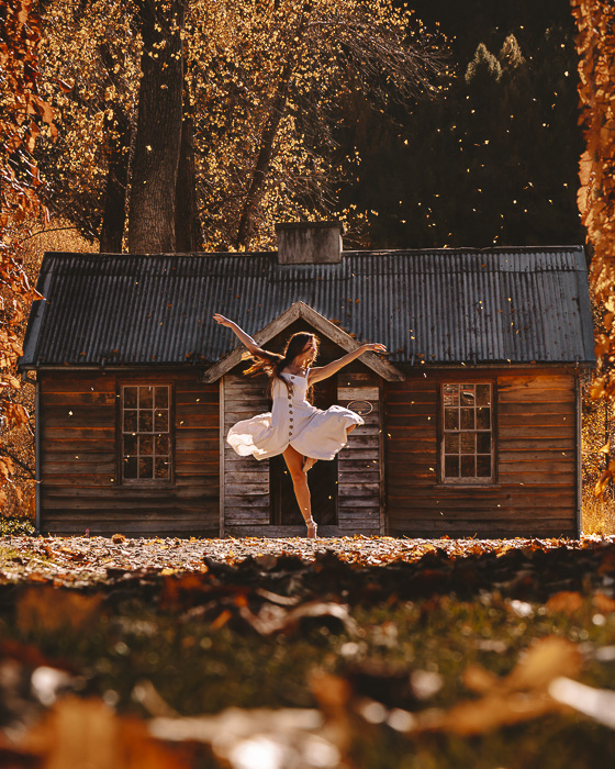 Arrowtown and autumn leaves, Dancing the Earth